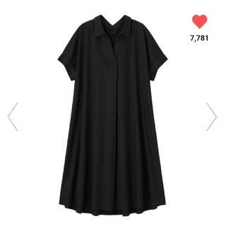 ジーユー(GU)のWeb限定サイズGU☆Aラインシャツワンピース  タグ付き新品未使用(ロングワンピース/マキシワンピース)