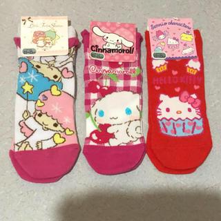 サンリオ - サンリオ靴下3足【新品、未使用】☆23~25