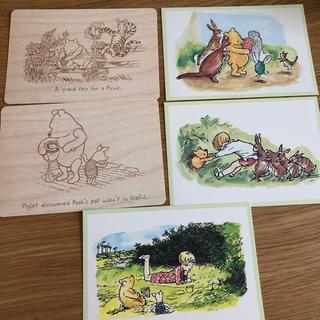 クマノプーサン(くまのプーさん)のポストカードセット12-B くまのプーさん 5枚(写真/ポストカード)