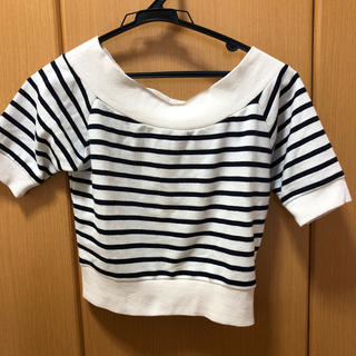 ミスティウーマン(mysty woman)のミニ丈トップス(Tシャツ(半袖/袖なし))