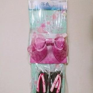 シマムラ(しまむら)の浴衣♡3点セット 撫子 グリーン(浴衣)