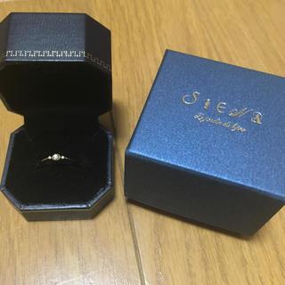 siena 指輪 シエナ k10 ダイヤモンド オレオールサイドメレリング(リング(指輪))
