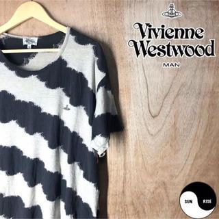 ヴィヴィアンウエストウッド(Vivienne Westwood)のvivienne westwood man 半袖 切り返し ロゴ 刺繍 Tシャツ(Tシャツ/カットソー(半袖/袖なし))