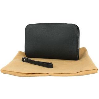 ルイヴィトン(LOUIS VUITTON)のルイヴィトン バイカル タイガ レザー アルドワーズ ブラック ハンドバッグ(セカンドバッグ/クラッチバッグ)