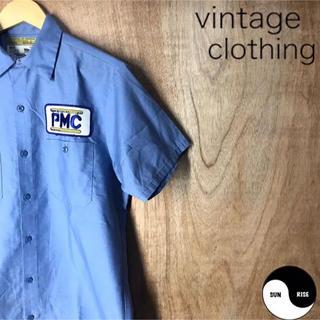 古着 vintage clothing 半袖 ワッペン ワークシャツ shirt(シャツ)