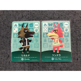 ニンテンドー3DS(ニンテンドー3DS)の美品 どうぶつの森 amiiboカード リカルド ツンドラ アミーボ a42(シングルカード)