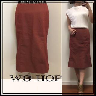【WO HOP】膝丈スカート✳︎ロングスカート✳︎マーメイド風(ひざ丈スカート)