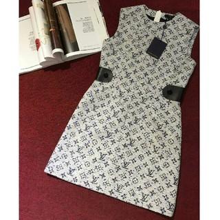 ルイヴィトン(LOUIS VUITTON)の美品LOUISVUITTON ジャンパースカート  ワンピース S(ミニワンピース)