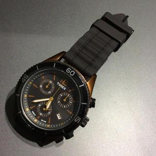 タイメックス(TIMEX)のTIMEX ブラックダイヤル  クロノグラフ 腕時計 T2N829(腕時計(アナログ))