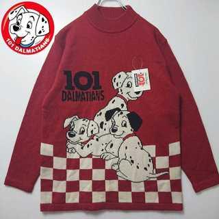 【未使用タグ付】 101匹ワンちゃん ビンテージ ニット セーター N200(ニット/セーター)