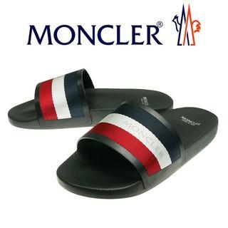 モンクレール(MONCLER)の【6】MONCLER 19ss NEW BASILE ブラック サンダル 45(サンダル)