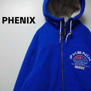 PHENIX 90s 刺繍 フリースジャケット 中綿キルティング 358(パーカー)