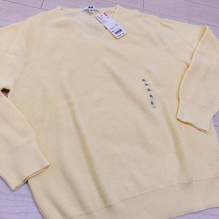 ユニクロ(UNIQLO)のUNIQLO コットンカシミヤVネックセーター(ニット/セーター)