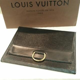 ルイヴィトン(LOUIS VUITTON)のルイヴィトン イエナ クラッチバッグ メンズ セカンドバッグ ブラック エピ(セカンドバッグ/クラッチバッグ)