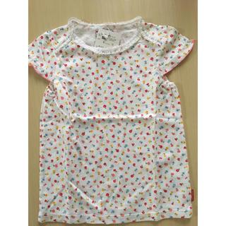 ミキハウス(mikihouse)の新品未使用!MIKIHOUSE 小花柄 半袖 Tシャツ 120(Tシャツ/カットソー)