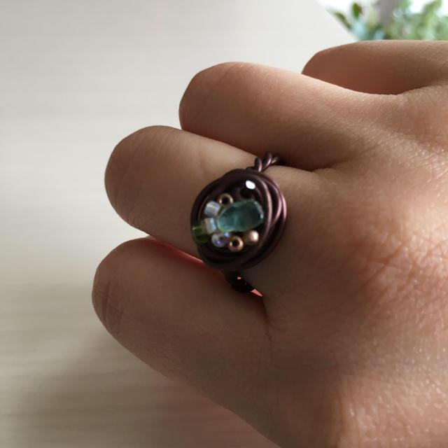 ハンドメイド ワイヤーリング レディースのアクセサリー(リング(指輪))の商品写真