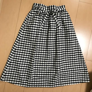 GU - GU♡kids ギンガムチェックロングスカート