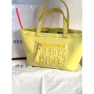 シーバイクロエ(SEE BY CHLOE)のSEE BY CHLOE yellow エナメルバッグ(トートバッグ)