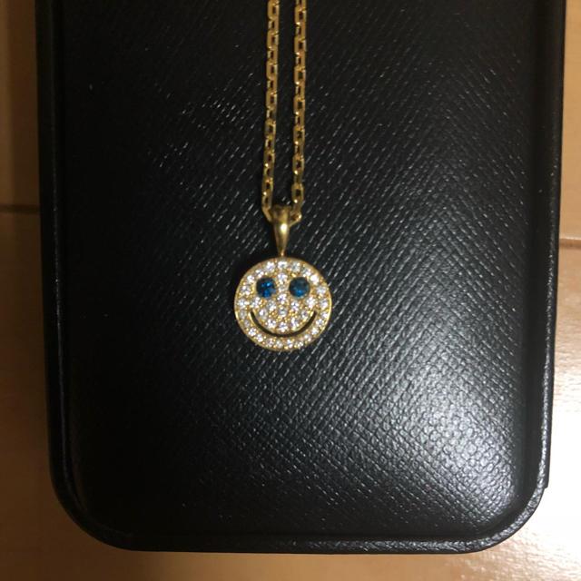EYEFUNNY(アイファニー)のEYEFUNNY ダイヤモンド スマイル S ブルーアイズ 18Kネックレス メンズのアクセサリー(ネックレス)の商品写真