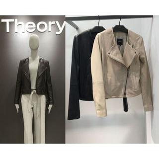 theory - theory 17AW レザーライダースジャケット サイズS ブラック