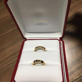 カルティエ(Cartier)の美品 カルティエ 結婚指輪 ペアリング ラブ(リング(指輪))