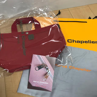 Herve Chapelier - エルベシャプリエ♡707GPパプリカ×パプリカ 舟形トートバッグ