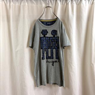 "DESIGUAL - 【極美品】Desigual デシグアル ""男女""デザインTシャツ メンズ S"
