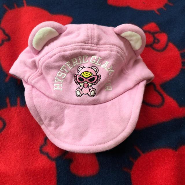 HYSTERIC MINI(ヒステリックミニ)のヒスミニ クマ耳キャップ キッズ/ベビー/マタニティのこども用ファッション小物(帽子)の商品写真