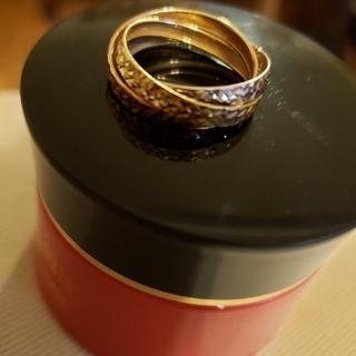 3カラー トリニティリング14K(リング(指輪))