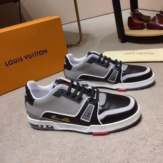 ルイヴィトン(LOUIS VUITTON)のLOUIS VUITTONカジュアルシューズ小白い靴メンズサイズ:25CM(スニーカー)