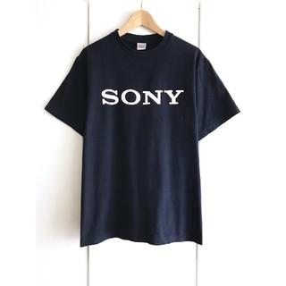 SONY - 【新品】ソニー/SONY/ビッグロゴTシャツ/ネイビー/企業ロゴ/販促ノベルティ