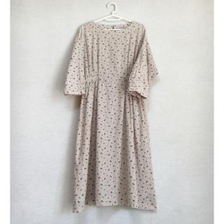 SM2 綿麻花柄ワンピース