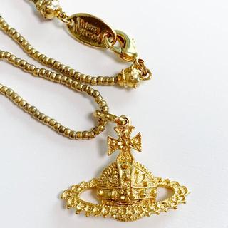ヴィヴィアンウエストウッド(Vivienne Westwood)の新品 箱・袋付き Vivienne Westwood オーブネックレス ゴールド(ネックレス)