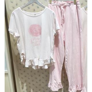 gelato pique - グッドナイトフリルTシャツ&ロングパンツ