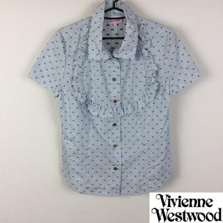 ヴィヴィアンウエストウッド(Vivienne Westwood)の美品 ヴィヴィアンウエストウッドレッドレーベル 半袖シャツ 総柄 サイズ3(シャツ/ブラウス(半袖/袖なし))