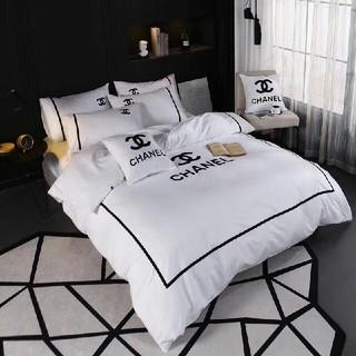 CHANEL - 最新の春夏物、季節の寝具chanel寝具カバー 4点セット 掛け布団カバー高級感