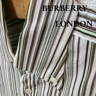 BURBERRY - 【美品】BURBERRY LONDON 半袖 ストラップ シャツ M