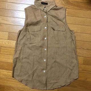 トゥモローランド(TOMORROWLAND)のTOMORROWLAND 麻100%ノースリーブシャツ(シャツ/ブラウス(半袖/袖なし))