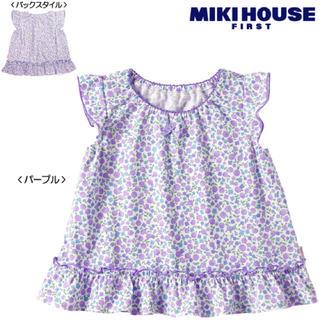 ミキハウス(mikihouse)のミキハウス 花柄 フリル トップス 70 80 チュニック(Tシャツ)