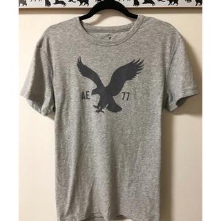 American Eagle - 【美品】アメリカンイーグルアウトフィッターズ★ビッグロゴTシャツ★灰L★
