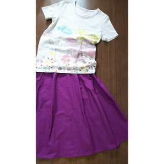 GU - お値下げ【新品】フレアースカート & mini labo Tシャツ