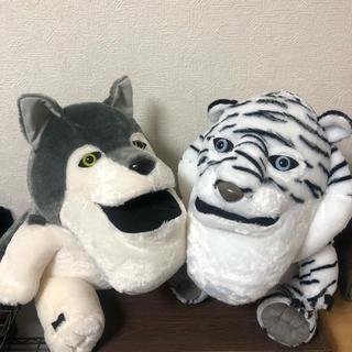 シャクレルプラネット お座りBIGぬいぐるみ オオカミ ホワイトタイガー(ぬいぐるみ)