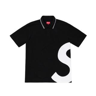 Supreme - Supreme S logo polo black Lサイズ