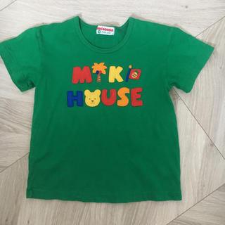 ミキハウス(mikihouse)のミキハウス Tシャツ 100 みどり クマ レトロ(Tシャツ/カットソー)