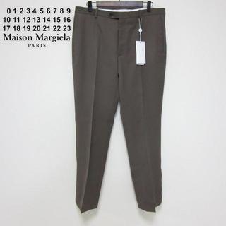 マルタンマルジェラ(Maison Martin Margiela)の新品タグ付き マルジェラ 裾スリット パンツ スラックス 50 XL(スラックス)