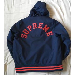 Supreme - Supreme×CHAMPION  パーカー ネイビー×レッド サイズ:M