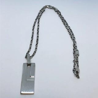 グッチ(Gucci)の【GUCCI グッチ】Gプレート Gロゴ ネックレス シルバー925 チェーン(ネックレス)