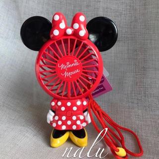 Disney - 香港ディズニー♡国内発送✨ミニーマウスミニ扇風機ストラップ付き