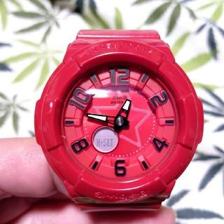 ベビージー(Baby-G)のCASIO Baby-G bga-133 ジーショック レッド(腕時計)