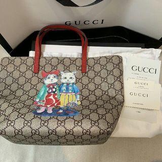 グッチ(Gucci)のGUCCI 猫ちゃんとGGマークトートバッグ(トートバッグ)